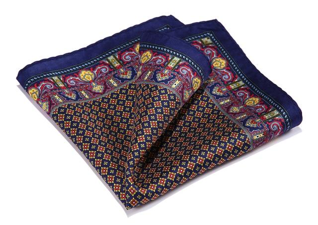 606e9292c69e HN35U Burgundy Blue HISDERN Handkerchief 100% Natural Silk Satin Mens Hanky  Fashion Classic Wedding Party