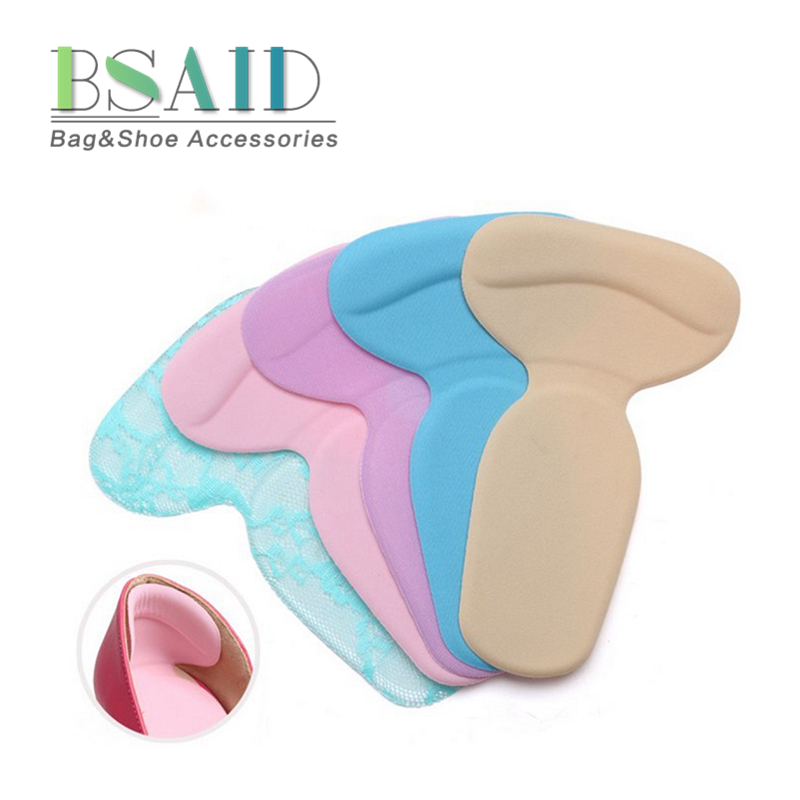 BSAID 2018 High Heel Gel Foot Care 1 Pair Soft Silicone Multicolor Insole Pads Protector Anti Slip Cushion Shoe Insert Dance 2 pair all adults and kids shoes new arrival silicone gel heel cushion foot care shoe pads insole worldwide sale