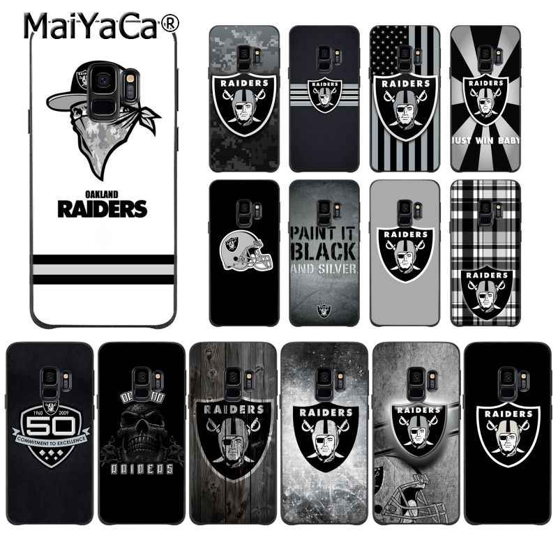 MaiYaCa Oakland Raiders High Quality Phone Case for Samsung S9 S9 plus S5 S6 S6edge S6plus S7 S7edge S8 S8plus