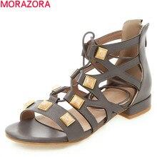 MORAZORA 2020 hot sale gladiator sandals women shoe