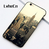 LvheCn 5 5S SE phone cover cases for iphone 6 6S 7 8 Plus X back skin shell New York City NYC Printed