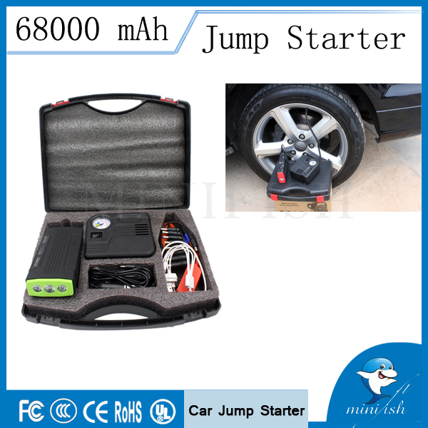 Emergency Power Bank Mini Car Jump Starter / 12V Portable Car Auto Electric Pump Air Compressor Tire Inflator 150PSI