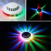 MINI Sunflower Portable multi UFO LED music Laser Stage Lighting Adjustment Party Wedding Club Projector light US or EU PLUG