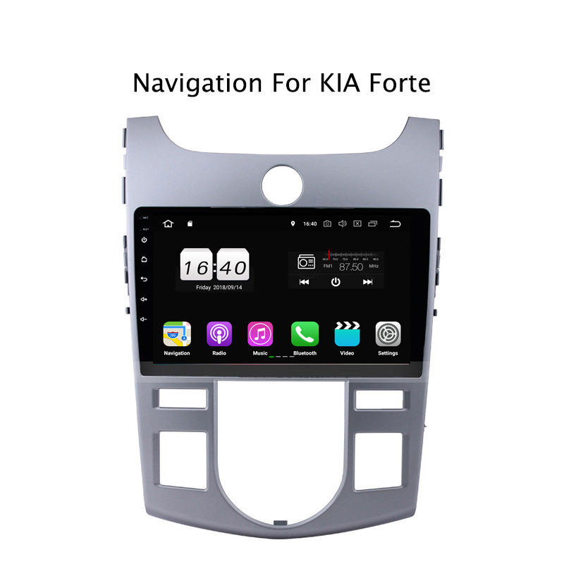 "9"" 2G RAM 16G ROM Android 8.1 Car DVD Multimedia Player For Kia Forte 2009-2014,AT GPS Navigation Radio Stereo Audio"