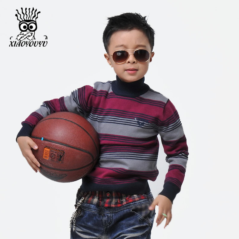 XIAOYOUYU-Size-110-150-Kids-Sweaters-Long-Sleeve-Casual-Style-Stripe-Design-Boys-Warm-Pullovers-Stand-Collar-Children-Clothing-1