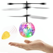 RC Flying Ball Luminous Kid's Flight Balls Electronic Infrared Induction Aircraft Remote Control Toys LED Light Mini Helicopter все цены
