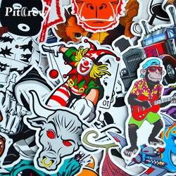 Разнообразные наклейки в стиле граффити, 100шт/лот