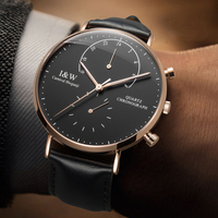 Switzerland Carnival Chronograph Famous Brand Watch Men Casual Fashion Quartz Watches Business Simple Wristwatch Leather Relogio
