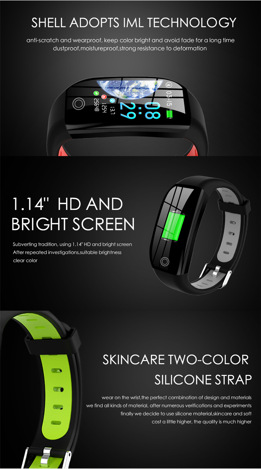 HTB1Fi4ZeL1H3KVjSZFHq6zKppXaY F21 Smart Bracelet GPS Distance Fitness Activity Tracker IP68 Waterproof Blood Pressure Watch Sleep Monitor Smart Band Wristband