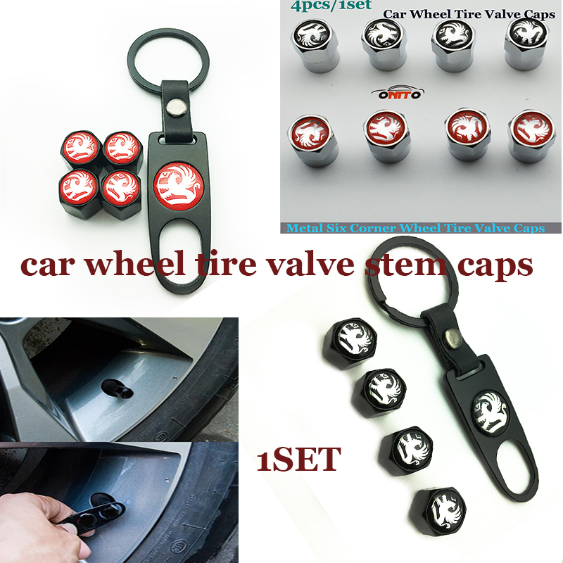 1set Car Wheel Tire Valve Stem Cap For Vauxhall Logo Emblem Badge Auto Wheels Tires & Parts Fitting All Car