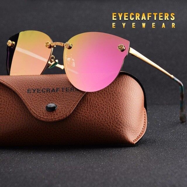 15576a9dec13d Novas Mulheres Polarizada Óculos De Sol de Marca Designer de Senhoras Retro  Cat Eye Óculos de