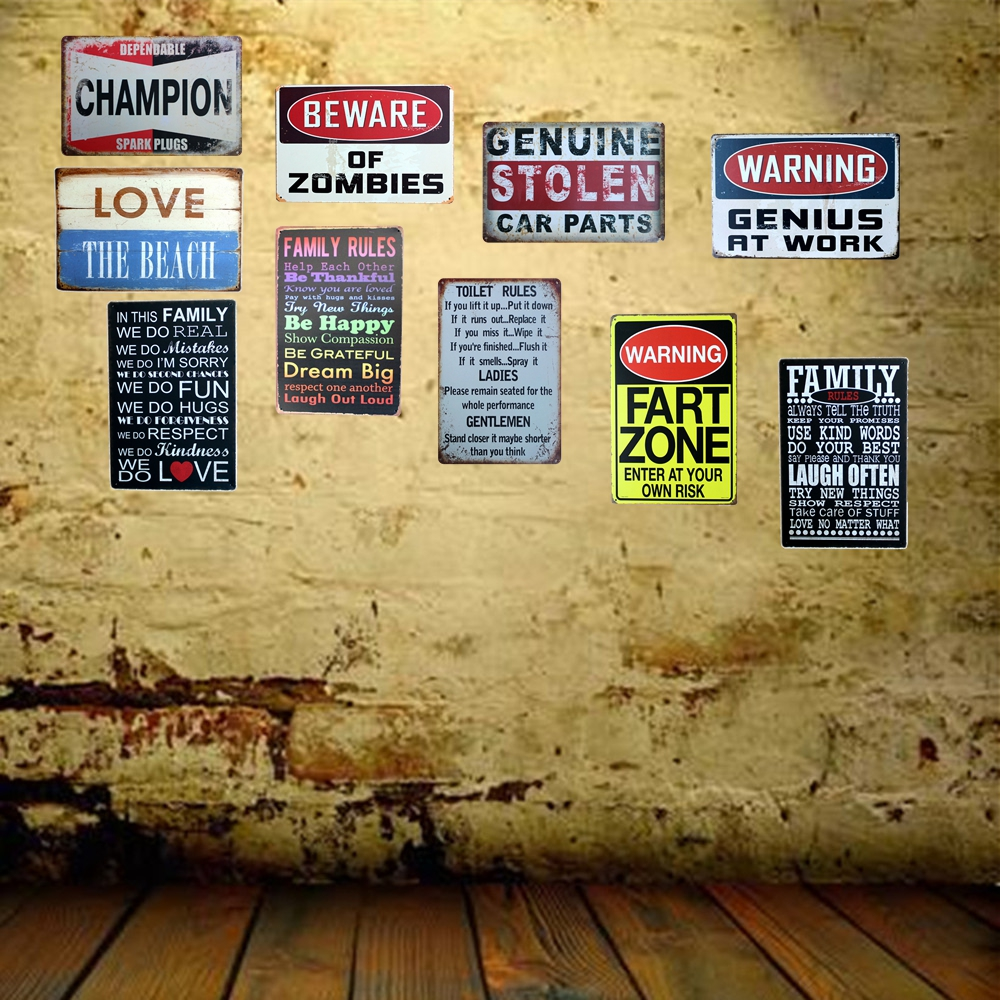 [ Mike86 ] WARNING GENIUS AT WORK Tin Sign ART Metal Craft Vintage Cafe Decor AA-290 Mix order 20*30 CM