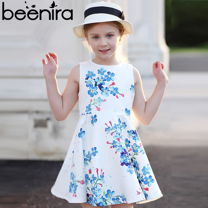 Beenira Girl Dresses 2017 New European and American Style Children Sleeveless Cute Clothes Summer Dress Kids Cute Princess Dress new girls dress brand summer clothes ice cream print costumes sleeveless kids clothing cute children vest dress princess dress