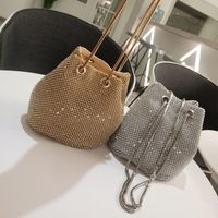 Crystal gold silver handbags for woman string chain shoulder cross body messenger bags B305 female women's clutches bags