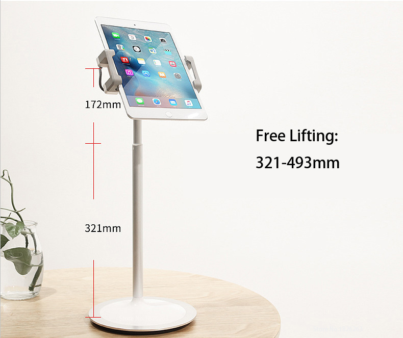 Hyvarwey XG-S3 Aluminum Alloy Free Lifting 4.7-12.9 Inch Phone/ Tablet PC Desktop Stand For Ipad Pro Iphone Surface Book