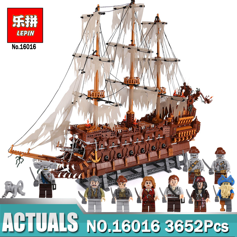 Lepin 16016 3652Pcs Movies Series MOC The Flying the Netherlands Building Blocks Bricks Compatible legoing Toys for Children lepin 16016 3652pcs movies series moc the flying netherlands dutchman model building blocks bricks ideas creator children gifts