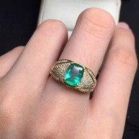 6*8.1 мм 1.2ct золото 3.5 г Fine Jewelry Идеальный 18 К золото идеальная высшего сорта колумбийский изумруд кольцо обручальное кольцо