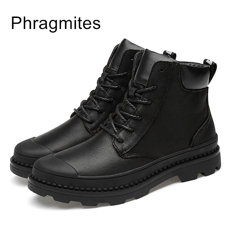 Phragmites Women Boots Lace Up Martin Boots Combat Boots Lace Up Cowboy Fashion Dress Shoes недорго, оригинальная цена