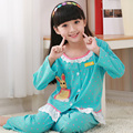Palace princess style Children Pajama Sets 100% Cotton Kids Pijamas Set 3-8Y Sleepwear Girls Pyjamas Lovely Clothes For Girls