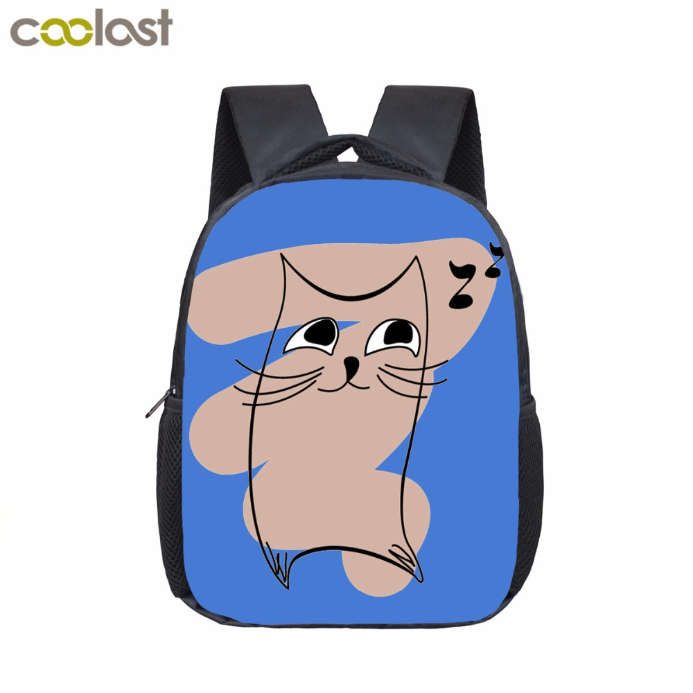 Graffiti Cat Toddler Backpack Kawaii Infant Bags Children Cartoon Kindergarten Mini Kids Bags Mochila