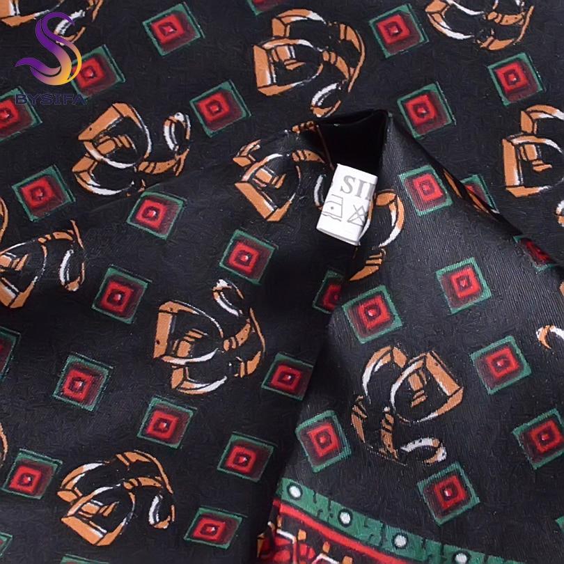 [BYSIFA] Winter Black Plaid Men bufanda de seda 2016 nueva primavera - Accesorios para la ropa - foto 5