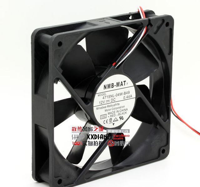 Nueva 4715NL-04W-B49 12025 12 CM 12 V 0.44A ventilador de refrigeración del chasis