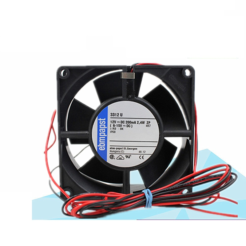 New original 3312U fan 9232 DC 12V 0.2A IP68 waterproof axial fan original s a n j u sj1738ha2 172 150 38mm 220vac 0 31a axial fan