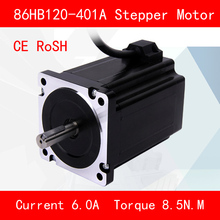CE ROSH 86HB120-401A Stepper motor torque 8.5N.M Phase current 6A for automation equipment 3d printer cnc