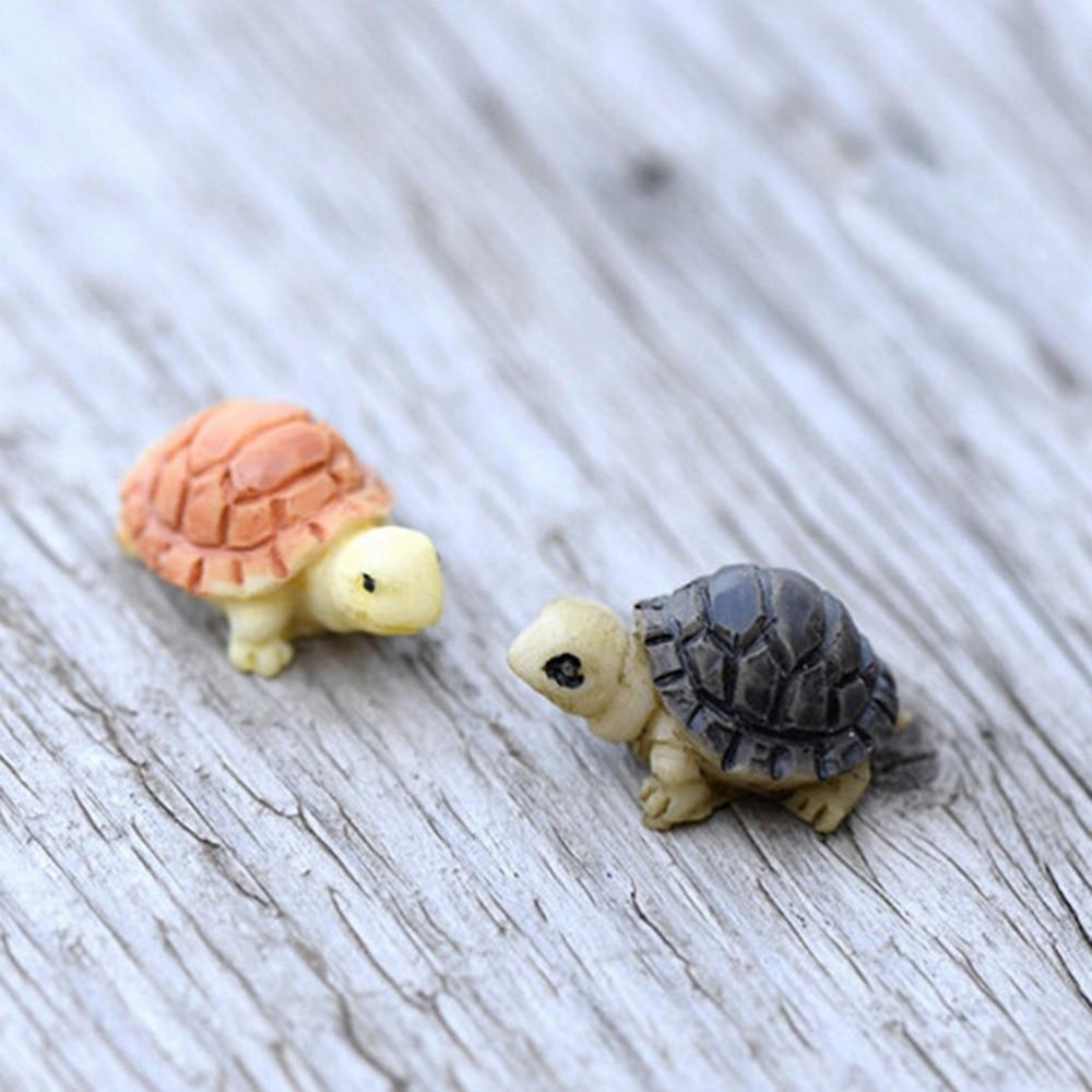 2 Pcs Mini Tortue Modèle Fée Jardin miniatures À faire soi-même Doll House terrarium Home