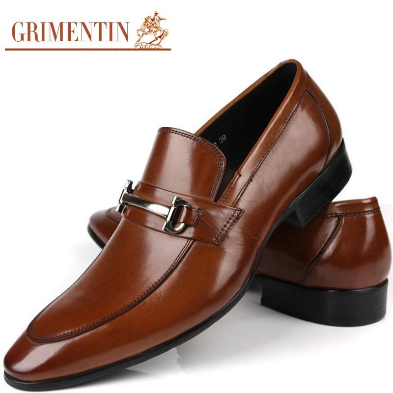 Men's Real Leather Slip On Formal Dress Loafer Shoes