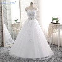 Sapphire Bridal Vestido De Noiva Vintage 2018 New Arrival Lace Appliques Wedding Dress Beaded Lace Bridal