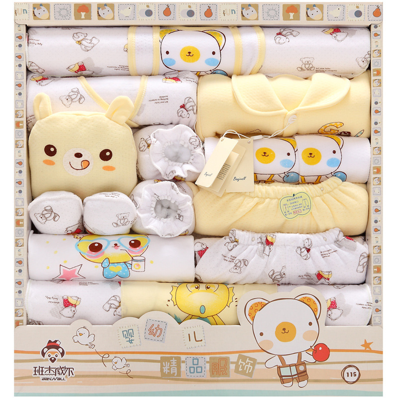 18PCS Set 100% Cotton Newborn Baby Clothing Sets Thick Infant Baby Girls Boys Clothes Infant Kids Underwear Clothes TZ38