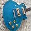Good Cheap Chinese Guitars LP Standard Electrica Guitarra KPOLE Natural Mahogany Back Chrome Hardware