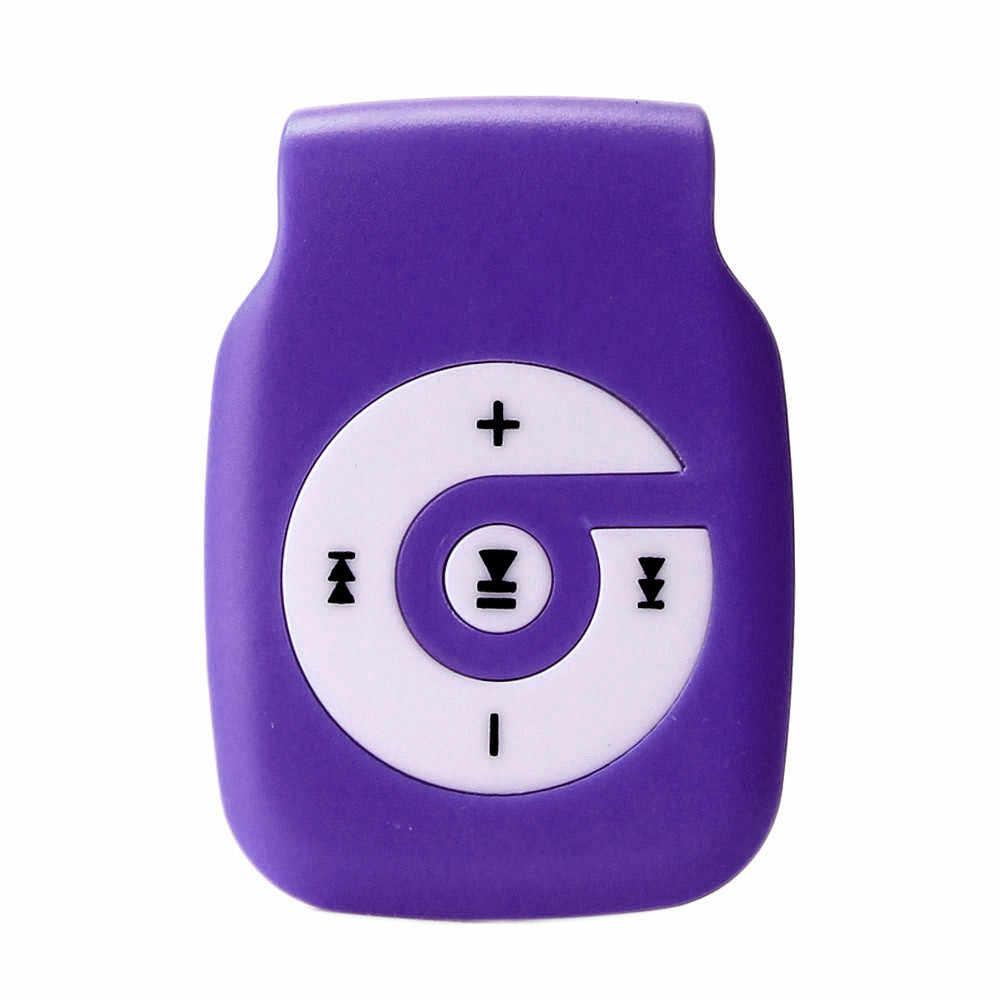 مصغرة كليب المعادن USB MP3 لاعب دعم مايكرو SD TF بطاقة الموسيقى وسائل الإعلام دروبشيب jh0416