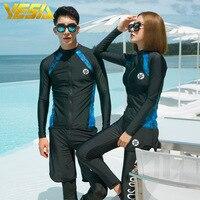 Wetsuit Jacket Men Long Sleeve Neoprene Front Zipper Surfing Winter Swimwear Warm Surf Suit Size XXXL