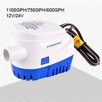 DC 12V / 24V 600GPH 750GPH 1100GPH Small Mini Automatic Boat Bilge Pump Automatic Submersible Electric Water Pump 600/750/1100