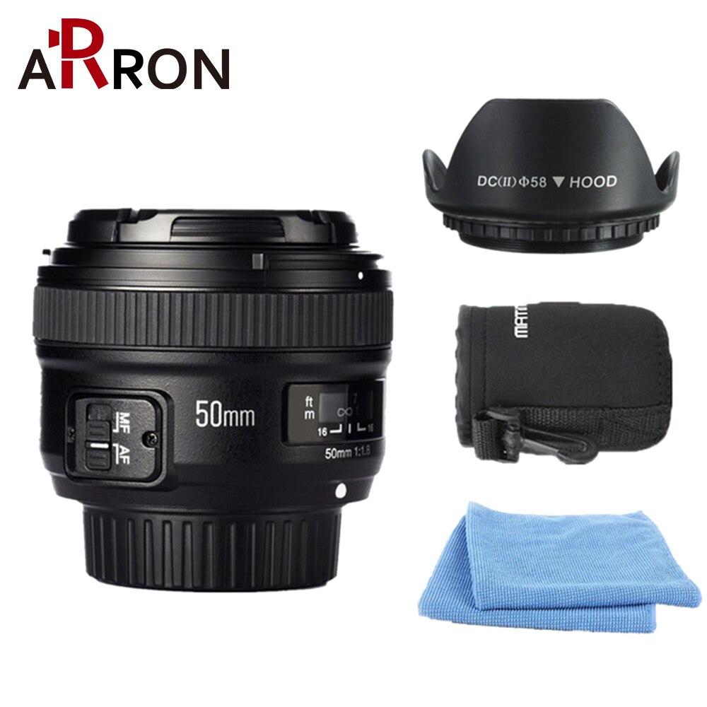 Nouveau YONGNUO YN 50mm f/1.8 AF Objectif YN50mm Ouverture Mise Au Point Automatique Grande Ouverture pour Nikon Appareil Photo REFLEX NUMÉRIQUE comme AF-S 1.8g Livraison lentille sac