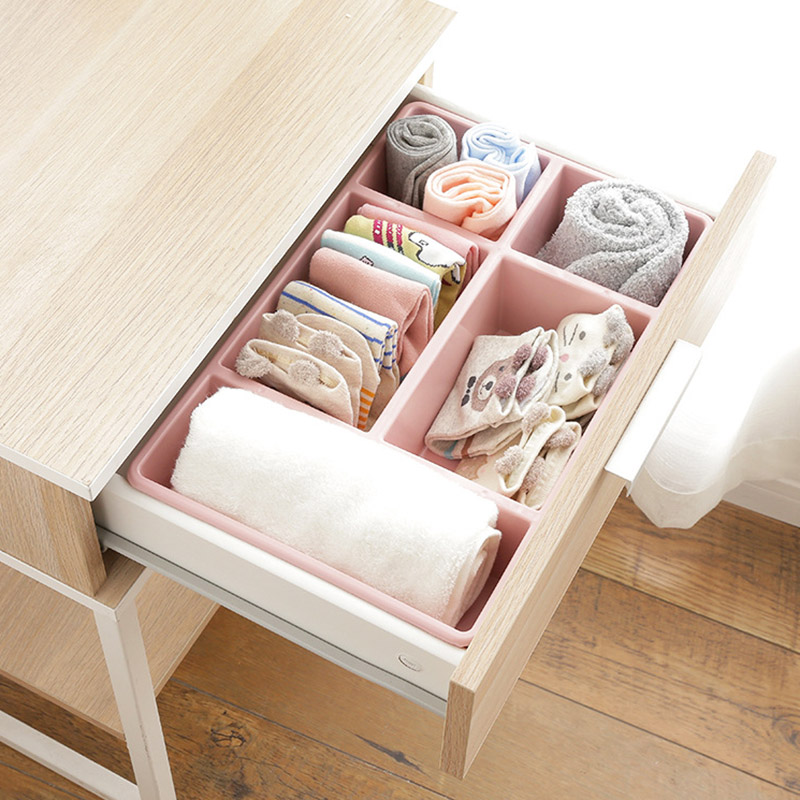 Newly Plastic Makeup Organizer 5 Grids Desktop Storage Box Cosmetic Sundries Case Container MK