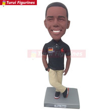 German Dude Personalized Bobble Head Clay Figurines Based on Customers Photos Using As Wedding or Birthday Cake Topper, Gifts,