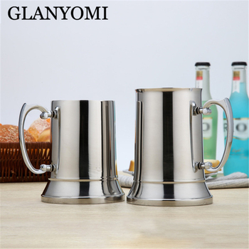 1PC 450/560ML Bilayer 304 Stainless Steel Milk Coffee Cars Beer Mugs Cups Tankard Stein for Office Double Wall Tankard фото