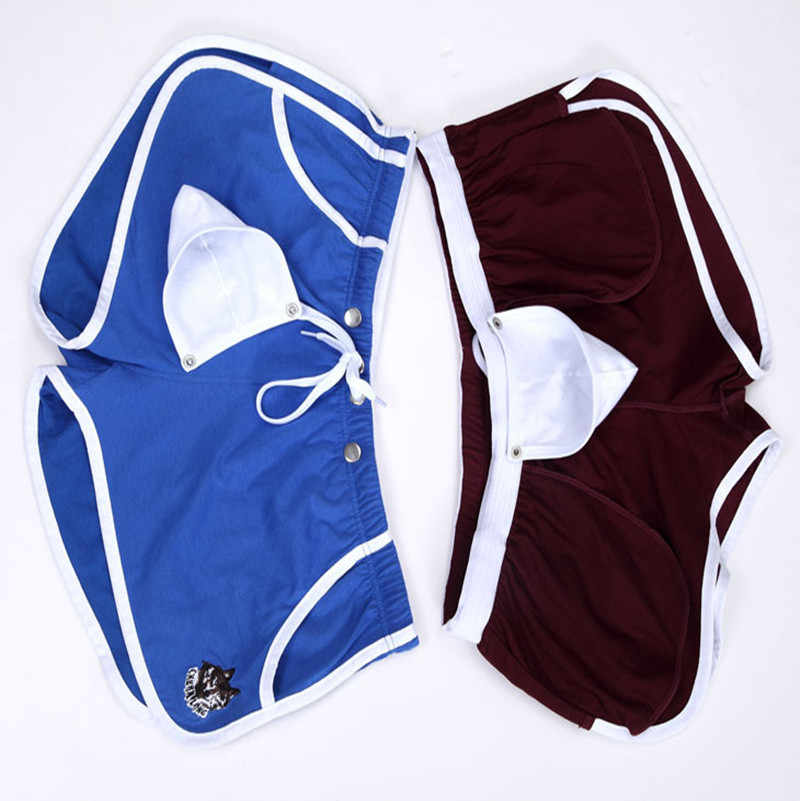dfcdffd99b98 ... 5PCS New Arrival Cotton Underwear Boxers Men Home Comfort Casual Shorts  with Penis Pouch Inside WJ ...