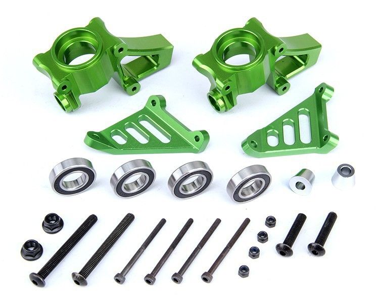 CNC alloy front wheel hub carrier set steering kit knuckle arm bearing seat C for 1/5 scale HPI KM Rovan Baja 5B 5T 5SC цена