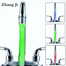 Zhang Ji ABS LED Aerators Water Saving Faucet Aerator Nozzle 3 Colors Blinking Kitchen Bathroom Accessories ZJ054