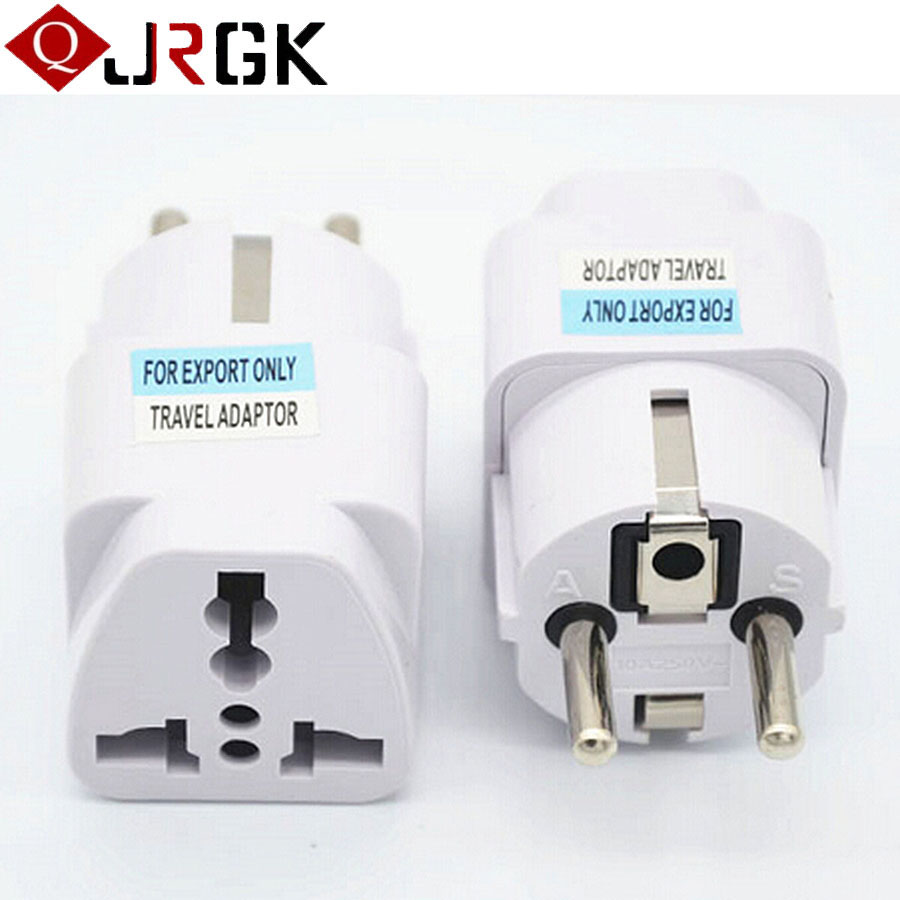 JRGK Portable Travel Universal Adapter Electrical Plug For UK US EU AU to EU European Socket Converter AC Power Adapter Adaptor