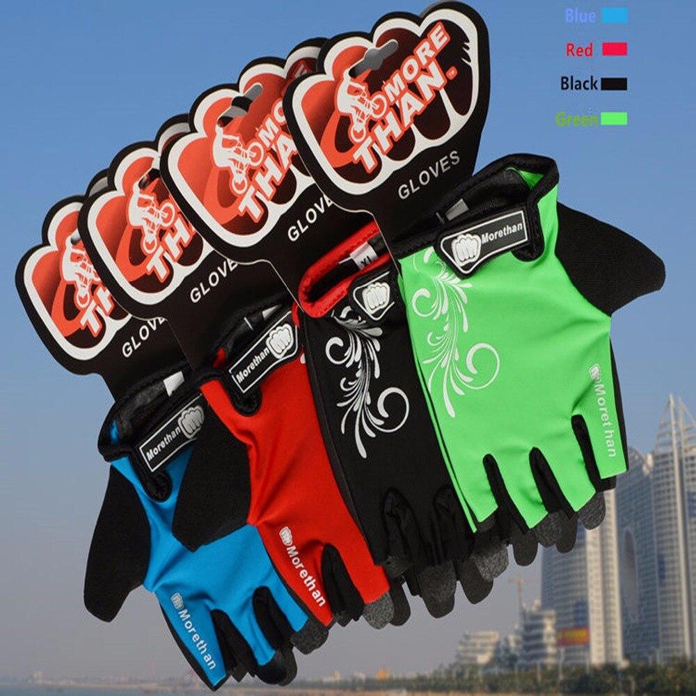 Купить с кэшбэком Promotion Bike Gloves Half Finger Team Guantes Ciclismo  Breathable Gloves for  Man Woman Kids Summer  Bicycle Glove 5 Colors
