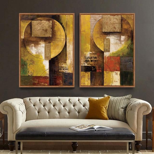 Pittura astratta su tela stampe cuadros modernos quadri su tela per ...