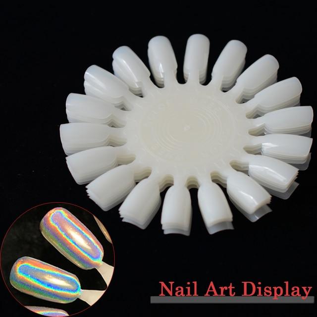 5pcs Flase Nails Tips Color Display Nail Art Practice Wheel Board