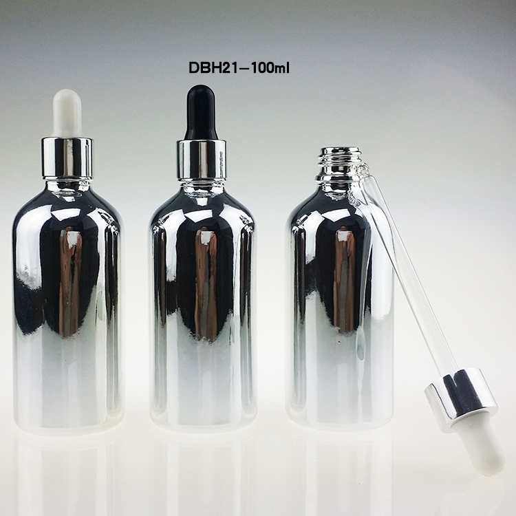 100 STKS 100 ml zilveren glazen druppelflesje, 100 ml druppelflesjes - Huidverzorgingstools - Foto 4