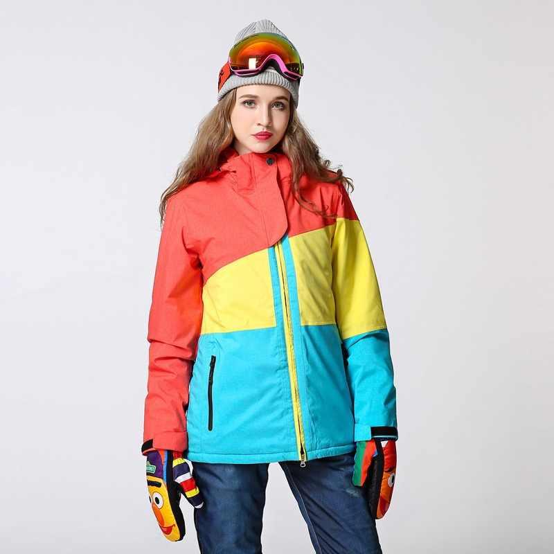 0cdee3a193c SAENSHING Women Waterproof Ski Jacket Snowboard Sportswear Breathable Warm  Winter Girls Snow Jacket Skiing And Snowboarding