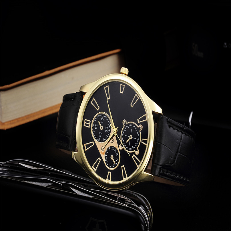 Watch relogio masculino Men Relogios Design Leather Band Analog Alloy Quartz Wrist Watch  hot sale fashion high quality women relogio masculino watch fashion lovers men women leather band quartz analog wrist watch casual bracelet watches wrist wholesale